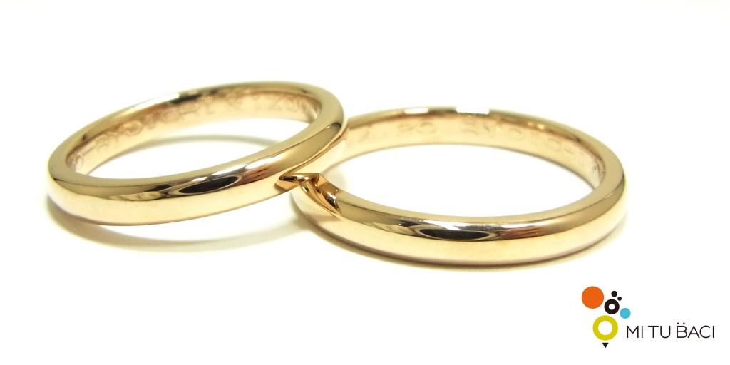 結婚指輪 シャンパンゴールド