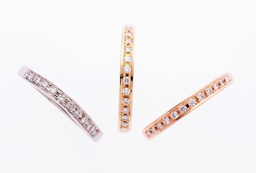 新作ハーフエタにティリング ex K18YG 12pc ダイヤモンド ¥100,000→¥62,000-