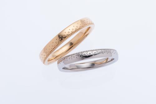 結婚指輪 プラチナとゴールド