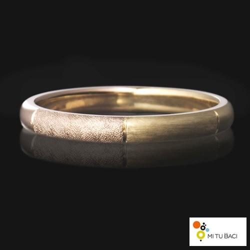 ヘアライン 手彫り 結婚指輪