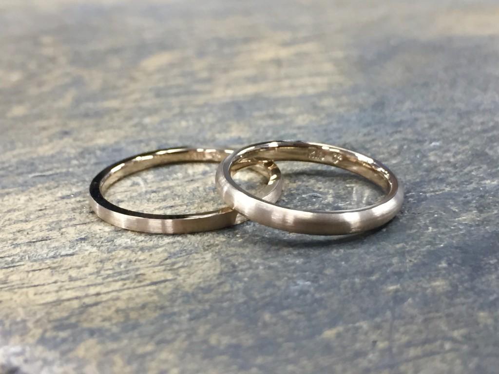 シャンパンゴールド 結婚指輪
