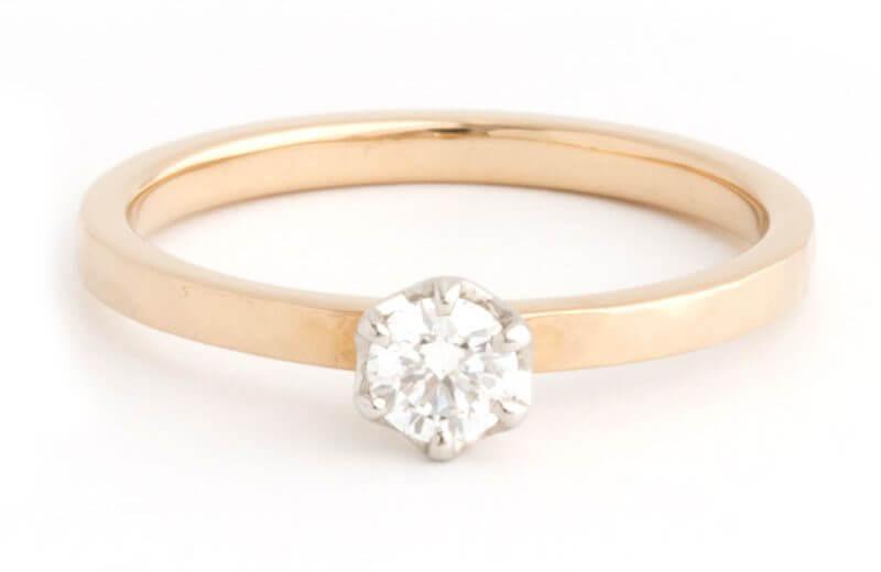 K18シャンパンゴールドの婚約指輪