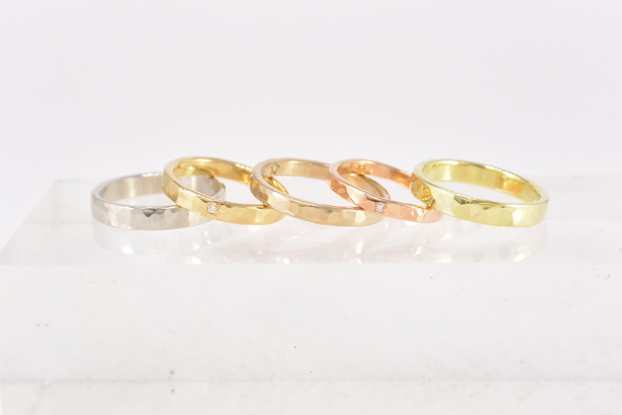 槌目の結婚指輪