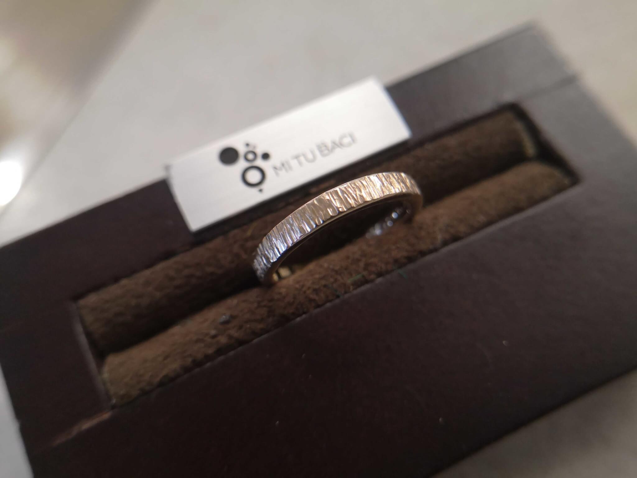 槌目(フォレスタ)・木立のようなテクスチャーの結婚指輪