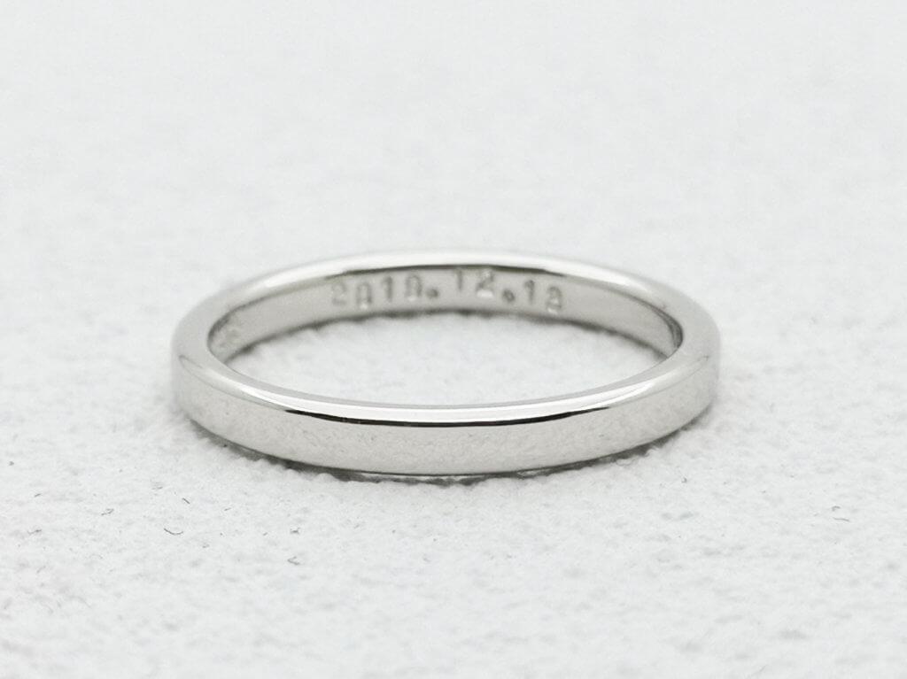 つやつやプレーンの結婚指輪