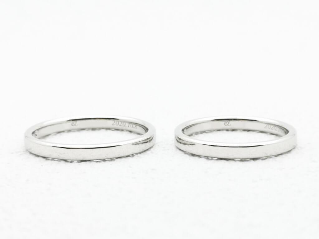 シンプルなプレーンの結婚指輪