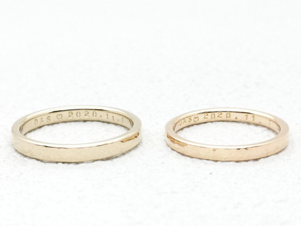好きな色を選ぶ・シャンパンゴールドとピンクゴールドの結婚指輪