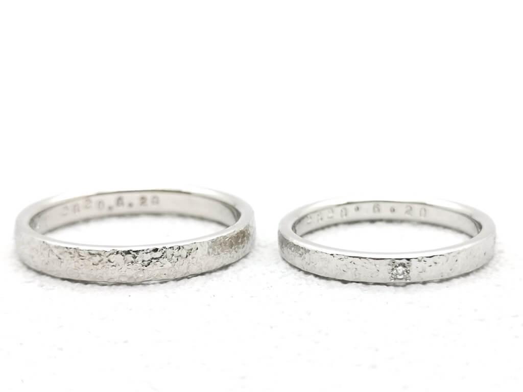 スノーフレークの結婚指輪