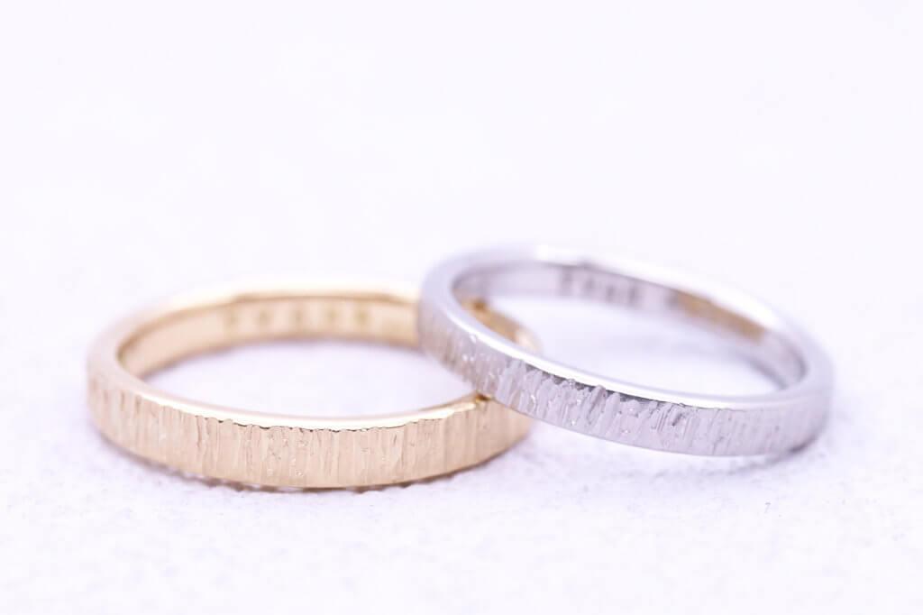 つや消しフォレスタの素敵な結婚指輪