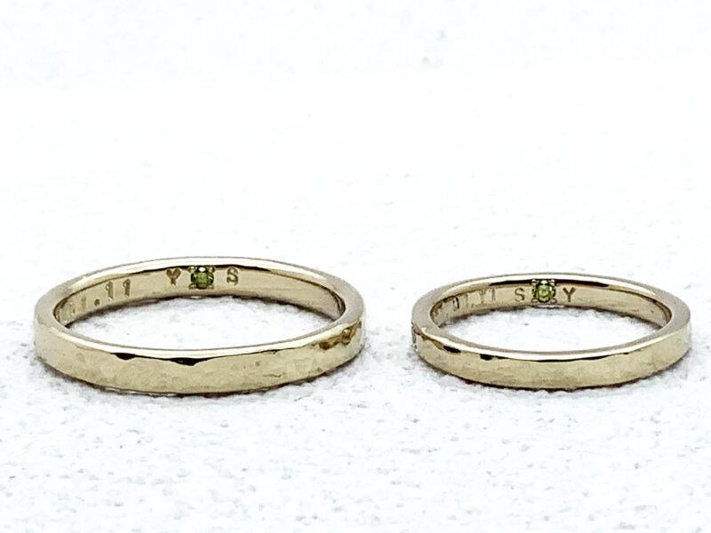 【お客様の声】お揃いのシークレットストーンを入れた結婚指輪