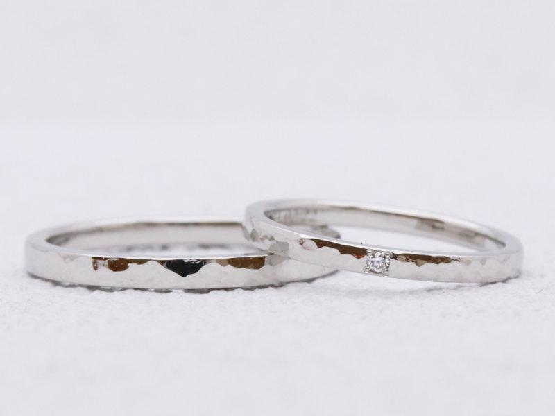 【お客様の声】ダイヤモンドがアクセントのプラチナ結婚指輪