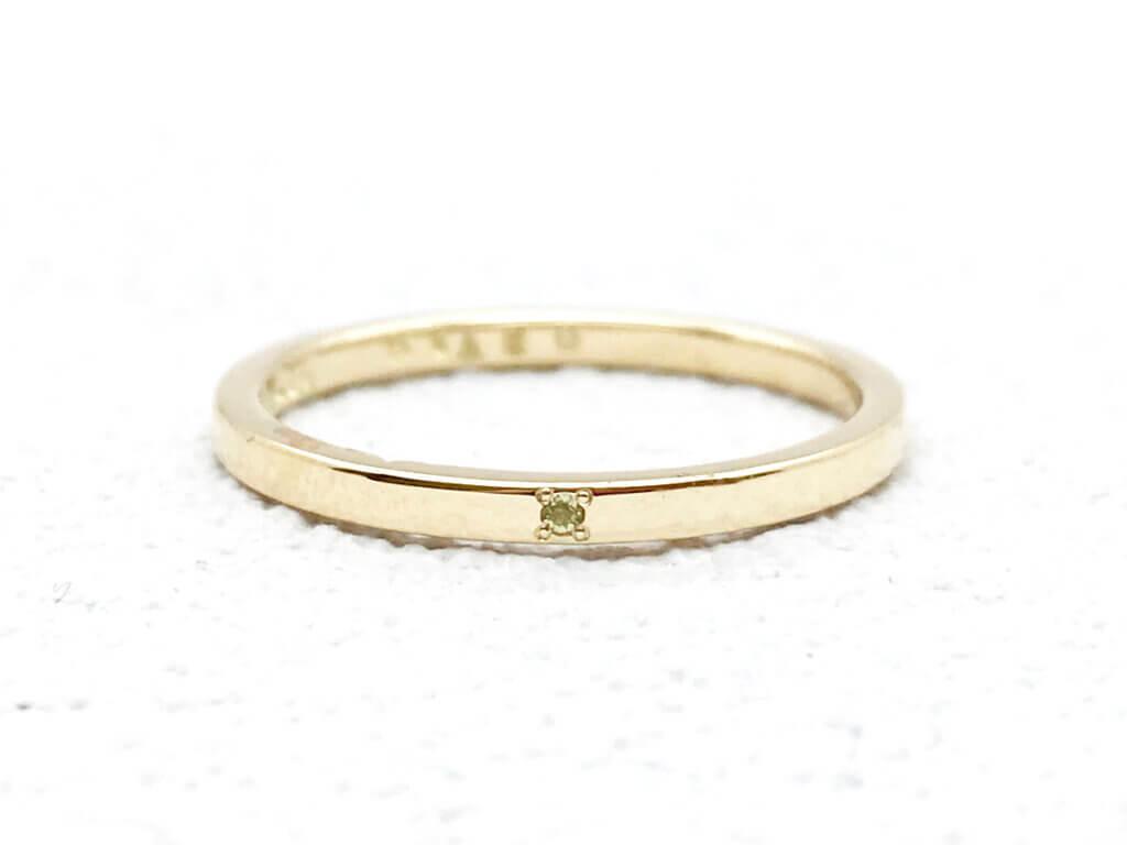 自分へのご褒美に。誕生石が輝く指輪