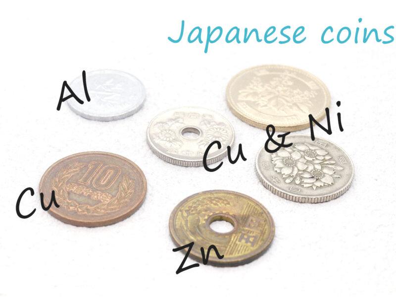 硬貨に使われている金属について・金属のお話 その2