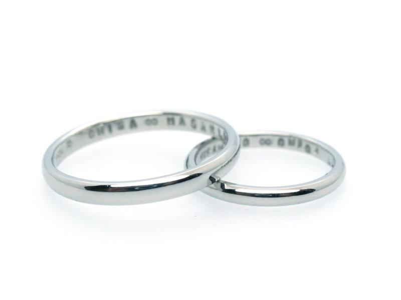 手作り結婚指輪の旋盤加工